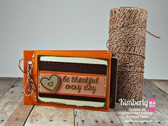 DT Kimberly @ Twine It Up! by Annie's Paper Boutique with a Mini Envelope Book featuring the Spiced Pumpkin Trendy Twine, Mini Open End Orange Envelopes, Happy Thanksgiving stamp set, Document the Everyday stamp set, Document the Everyday #2 stamp set, Drinks & More stamp set, and the Hello Fall stamp set  from APB.