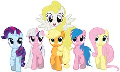 MLP - Smile Parade with the Mane 6 (Generation 1) Sparkler, Twilight, AJ, Surprise, Firefly and Posey
