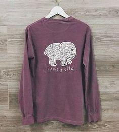 ada4bd5a Authentic Ivory Ella Purple Medium Long Sleeve T-shirt Ivory Ella Shirt,  Birthday List