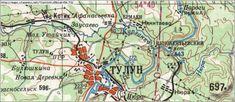 Топографическая карта России, Украины, Беларуси 54.731,100.65