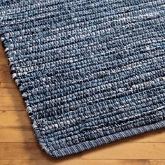 Kids' Rugs: Kids Woven Cotton Denim Rag Rug - 3 x 5' Denim Rug by The Land of Nod $69