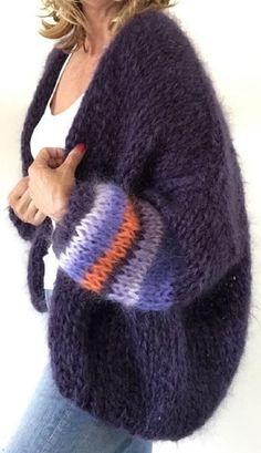 Fair Isle Knitting, Easy Knitting, Knitting Needles, Knitting Projects, Knitting Patterns, Crochet Patterns, Knit Fashion, Look Fashion, Chunky Knitwear