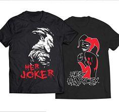 His Harley Her Joker Love Couples Unisex Black T-Shirt - couples apparels Couple Tshirts, Joker And Harley Quinn, Love Couple, Piece Of Clothing, Graphic Sweatshirt, T Shirt, Black Men, Fashion Brands, Unisex