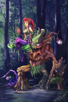 Zyra and Maokai   love growing roots   league of legends