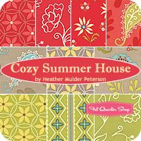 Pleasant Summer House Fat Quarter BundleHeather Mulder Peterson for Henry Glass Fabrics