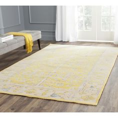 Safavieh Stone Wash Yellow Rug | AllModern
