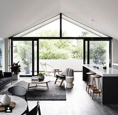 Here we showcase a a collection of perfectly minimal interior design examples for you to use as inspiration.Check out the previous post in the series: 30 Examples Of Minimal Interior Design Minimalism Interior, House Design, Indoor Outdoor Living, Apartment Design, Home, Interior Design Examples, House Interior, Home Interior Design, Interior Design