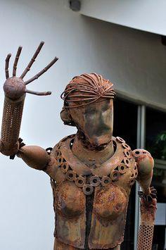 Prosthetic Legs & Cluster Bomb Art: COPE centre, Vientiane (Laos)