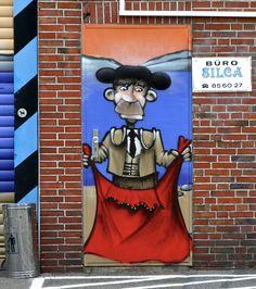 "Matador in Hamburg, Germany - photo by cmdpirxII, via deviantART;  on an industrial company named ""Calpesa""(Spanien for everyone).   ..."