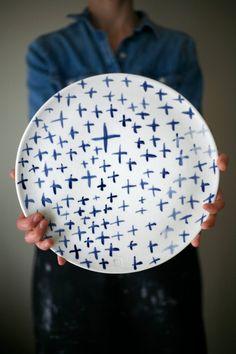 Artet Manufacture - Plateau de service Large Ceramic X Plate II Onyx Creative