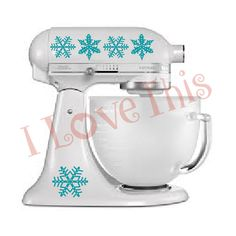 Pyrex Snowflakes vinyl decals  Perfect for your by ILoveThisNH