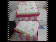 Caja de madera decorada DECOUPAGE *paso a paso (servilletas decoradas) - YouTube