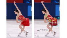 Dress Breakdown: red lace ice dance dress - Sew Like A Pro™ Ice Dance Dresses, Figure Skating Dresses, Synchronized Skating, Gym Leotards, Ballroom Dance, Red Lace, Dance Costumes, Skater Dress, Sewing School