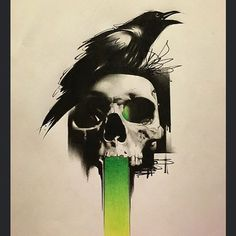 crow raven tattoo art on Instagram