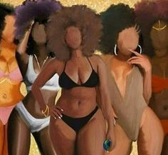 Black is beautiful - all shapes, shades and sizes Black Love Art, Black Girl Art, My Black Is Beautiful, Black Girls, Art Girl, Black Women, Beautiful Women, Beautiful Lips, African American Art
