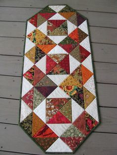 pinterest quilted table runners | Fall Colors Quilted Table Runner | Table Runners