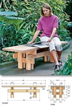 Japanese Garden Bench Plans - Outdoor Furniture Plans and Projects | WoodArchivist.com #woodworkingbench