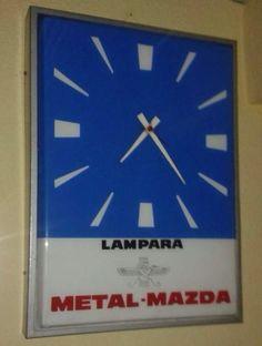 Antiguo Reloj Luminoso Mazda