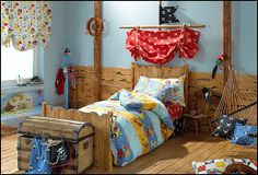 Head of bed  fun pirate theme bedrooms - Google Search