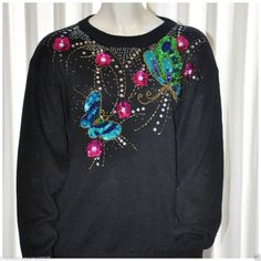 Butterfly Embellished Sweater