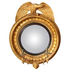 English Regency Round Convex Mirror   From a unique collection of antique and modern convex mirrors at https://www.1stdibs.com/furniture/mirrors/convex-mirrors/