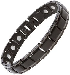 Stylish Pure Titanium Magnetic Bracelet Pain Relief for Carpal Tunnel Arthritis Muscles by Radavo * Find out more about the great product at the affiliate link Amazon.com on image.