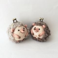 minne(ミンネ)| ハリネズミまめぐち hedgehog purses