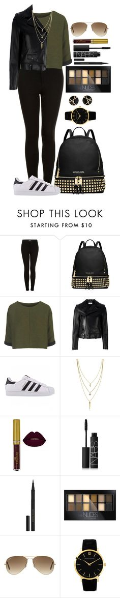"""Untitled #1318"" by fabianarveloc on Polyvore featuring Topshop, MICHAEL Michael Kors, Yves Saint Laurent, adidas Originals, Cole Haan, NARS Cosmetics, Kevyn Aucoin, Maybelline, Ray-Ban and Larsson & Jennings"
