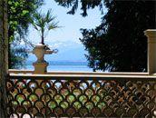 Blick von der Roseninsel auf den Starnberger See
