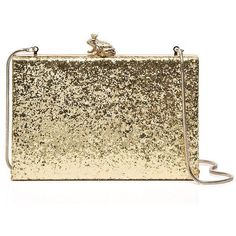 Kate Spade Wedding Belles I Kissed A Frog Emanuelle ($328) ❤ liked on Polyvore featuring bags, handbags, clutches, man bag, hand bags, kate spade purses, brown hand bags and brown handbags