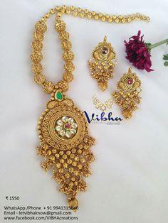 Ethnic Jewelry, Indian Jewelry, Jewelry Art, Gold Jewelry, Fashion Jewelry, Jewelry Design, Gold Necklace, 1 Gram Gold Jewellery, Fancy Jewellery