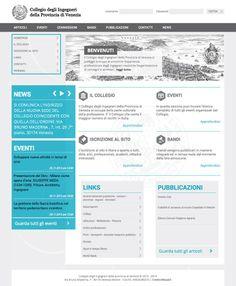 Web design sito Collegio Ingegneri Venezia