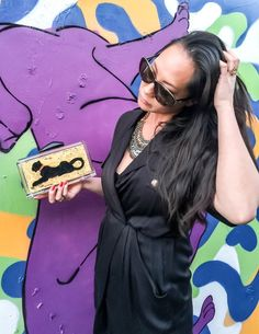 Panther of the Light gold acrylic clutch | STEFANIE PHAN