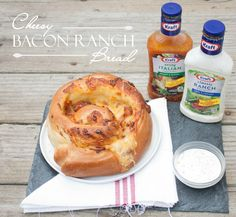 Amazing Cheesy Bacon Ranch Bread recipe by @Sweetphi #FoodDeservesDelicious #SoFab #shop