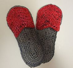 Plastic Bag Crocheted Sandals