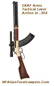 EKAF Lever Action Rifle based on the AR-15 Platform. Suppressor Optional.. NFAGunTrustLawyers.Com