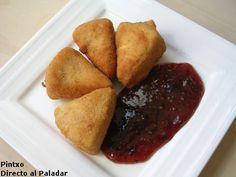 Queso Camembert frito con mermelada de tomate. Receta