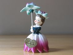 Vintage 1956 Napco Flower of the Month Girl - July