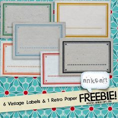 Freebie! Vintage Labels & Retro Paper