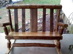 Superieur Barnwood Log And Timber Two Person Rocking Chair