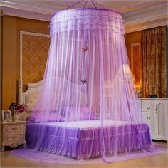 Design Hung Dome Mosquito Net Princess Insect Bed Canopy Netting Lace Round Mosquito Nets With