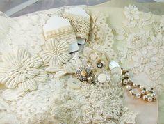 Large Shabby Chic Vintage Sewing Lot Destash by Alyssabeths, $30.00