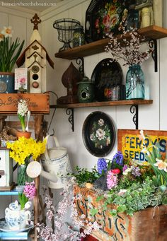 Potting Shed and Ferry's Seeds Box planted for spring | homeiswheretheboatis.net