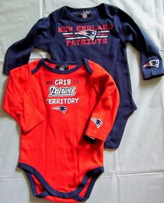 NFL Infant Toddler Boys  New England Patriots Two Pack Long Sleeve Bodysuit  (Team Color 5211a69d4