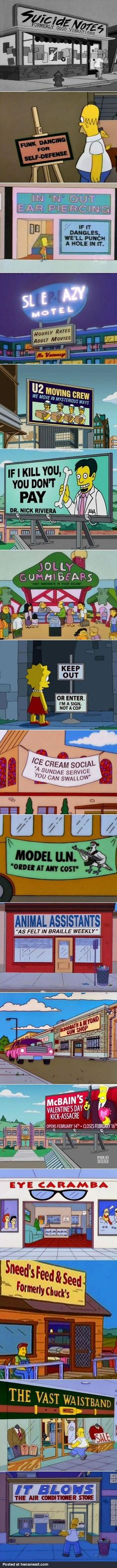 Simpsons Signs