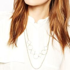 Stylish Hollow Out Geometric Layered Necklace For Women
