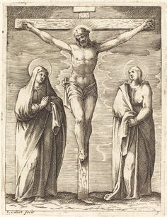 Virgin and Saint John at the Foot of the Cross | Jacques Callot, Virgin and Saint John at the Foot of the Cross (1608/1611)