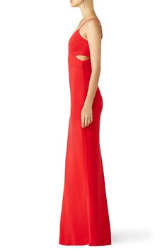 Red Odessa Crossover Gown by Badgley Mischka for $100 - $115 | Rent the Runway