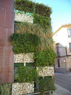 a vertical garden in Segorbe, Spain