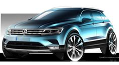Volkswagen Tiguan 2016, dos bocetos anticipan el nuevo SUV - http://www.actualidadmotor.com/volkswagen-tiguan-2016-bocetos-nuevo-suv/